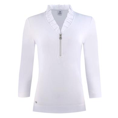 Daily Sports Patrice Three Quarter Sleeve Polo- White