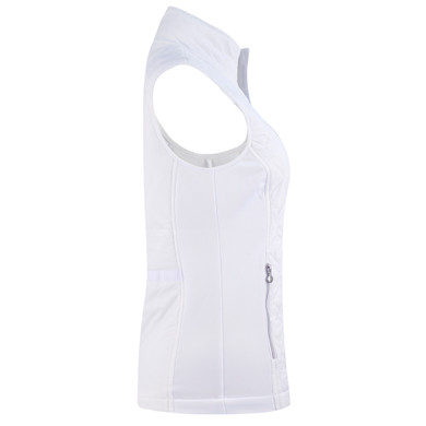 Daily Sports Quilted Even Vest- White