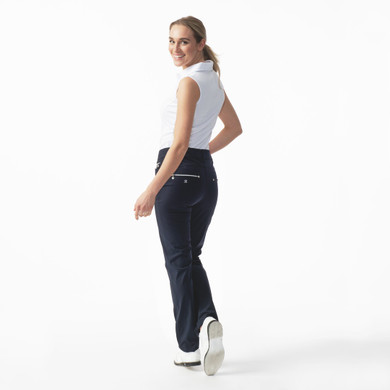 Daily Sports Womens Golf Trousers Miracle 29 Inch Navy - Rear Lifestyle