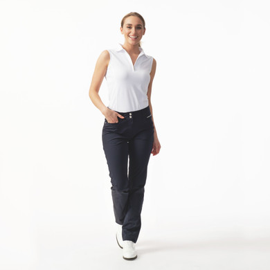 Daily Sports Womens Golf Trousers Miracle 32 Inch Navy - Front Lifestyle