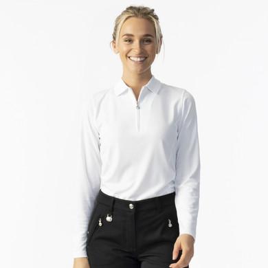 Daily Sports Macy Long Sleeve Polo Shirt - White