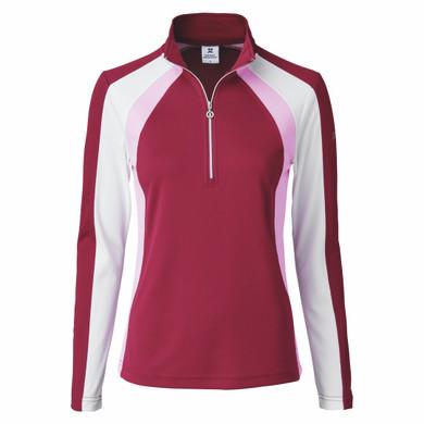Daily Sports Roxa Long Sleeve Polo Shirt - Plum