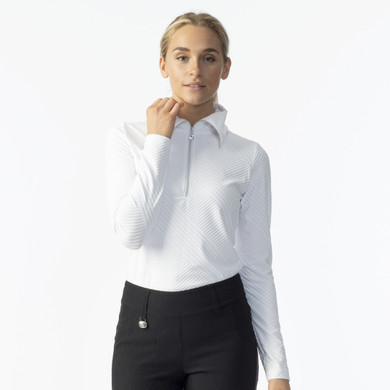 Daily Sports Floy Long Sleeve Polo Shirt - White