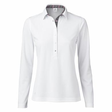 Daily Sports Catleya Long Sleeve Polo Shirt - White