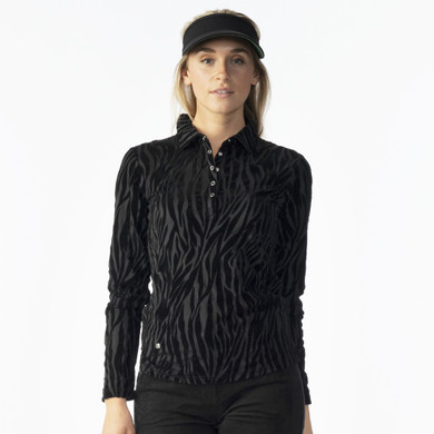 Daily Sports Blanche Long Sleeve Polo Shirt - Black