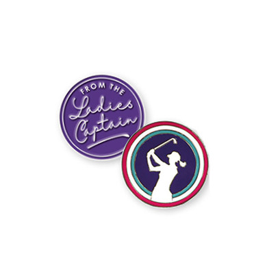 From The Ladies Captain Golf Ball Marker and Visor Clip