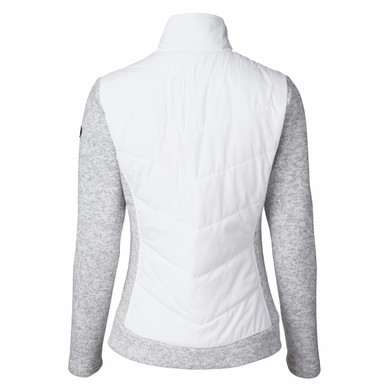 Daily Sports Ladies Knitted and Quilted Karat Jacket - White