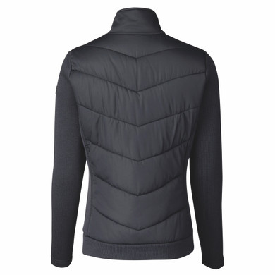 Daily Sports Ladies Knitted and Quilted Karat Jacket - Navy