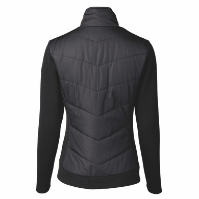Daily Sports Ladies Knitted and Quilted Karat Jacket - Black