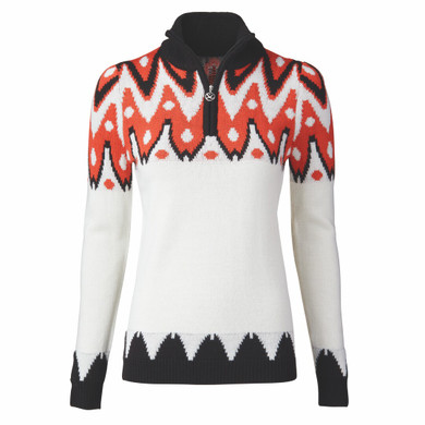 Daily Sports Sandrine Long Sleeve Lined Pullover- White