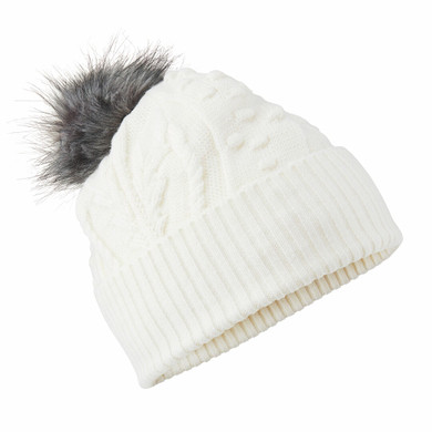 Daily Sports Ladies Amedine Bobble Hat - White