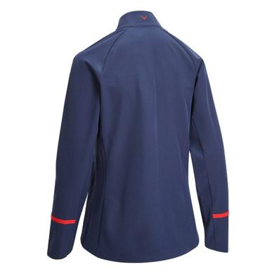 Callaway Golf Ladies Woven Full Zip Jacket - Navy