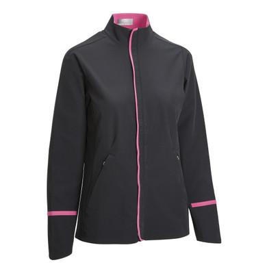 Callaway Golf Ladies Woven Full Zip Jacket - Black