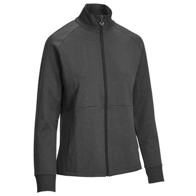 Callaway Golf Ladies Midweight Full Zip Fleece Jacket -Caviar
