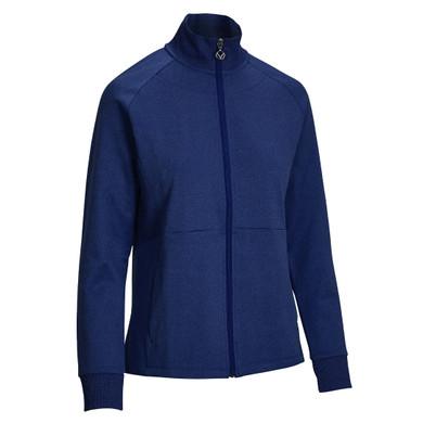 Callaway Golf Ladies Midweight Full Zip Fleece Jacket - Dark Moody