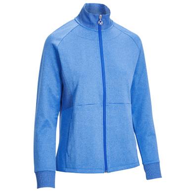 Callaway Golf Ladies Midweight Full Zip Fleece Jacket - Blue Tattoo