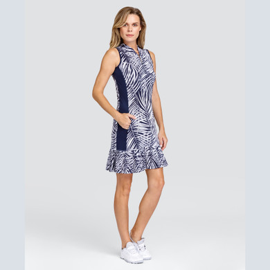 Tail Ladies Golf Nabila Sleeveless Dress - Navy Palma Night