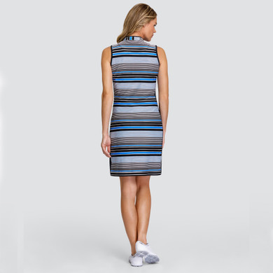 Tail Ladies Golf Deedee Dress - Ridged Jacquard Pacific