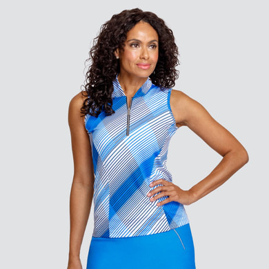 Tail Ladies Golf Norma Sleeveless Polo - Accent Pacific