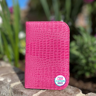 From The Lady Captain 2021 Scorecard Holder  Pink