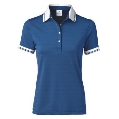 Daily Sports Marika Short Sleeve Polo Shirt Night Blue - Front