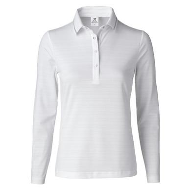 Daily Sports Marika Long Sleeve Polo Shirt White - Front