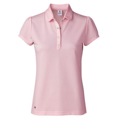Daily Sports Carina Cap Sleeve Polo Shirt Pink - Front
