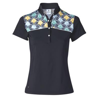 Daily Sports Sofia Sleeveless Polo Shirt Navy - Front