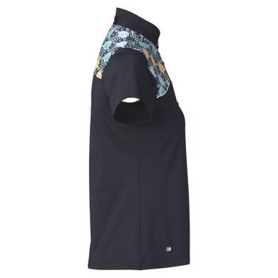 Daily Sports Sofia Sleeveless Polo Shirt Navy - Side