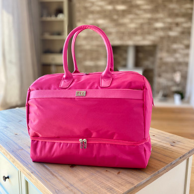 Lady Golfer Honeycomb Design Golf Holdall- Pink
