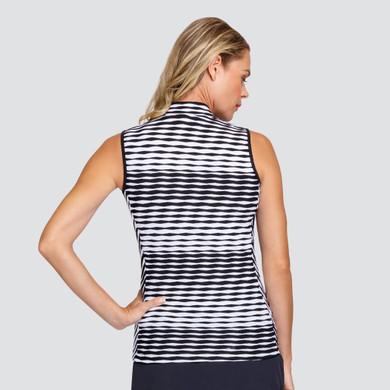 Tail Ladies Golf Kassidy Sleeveless Polo -Dynamic Jacquard