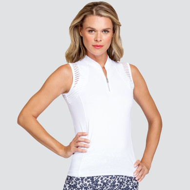 Tail Ladies Golf Rachel Sleeveless Polo - White