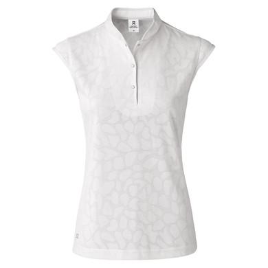 Daily Sports Uma Sleeveless Polo Shirt White - Front