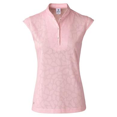 Daily Sports Uma Sleeveless Polo Shirt Pink - Front