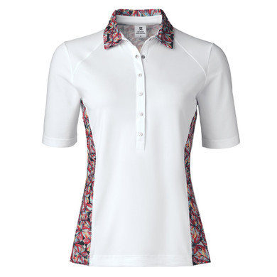Daily Sports Rick Half Sleeve Polo Shirt White - Front