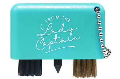 From The Lady Captain 3 in 1 Golf Club Cleaner -Aqua
