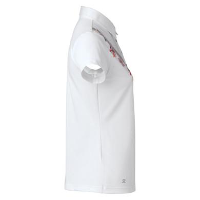 Daily Sports Liv Cap Sleeve Polo Shirt White - Side