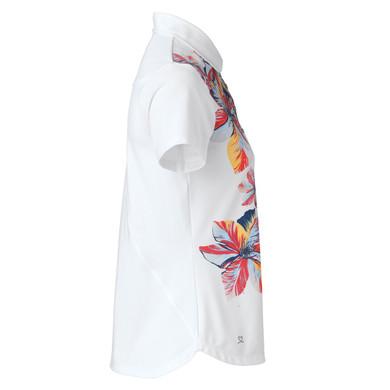 Daily Sports Nance Cap Sleeve Polo Shirt White - Side