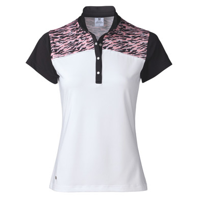 Daily Sports Elsie Cap Sleeve Polo Shirt Pink - Front