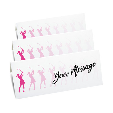 Lady Golfer Place setting cards - pack of 10