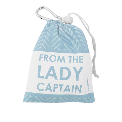 From The Lady Captain Tee and Accessory Bag -Blue