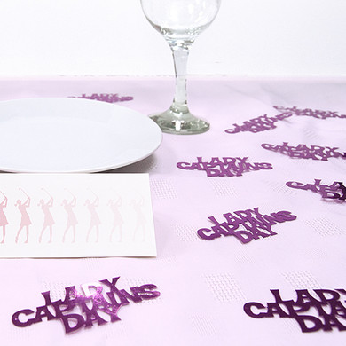Lady Captains Day   Table Sprinkle Confetti - Purple