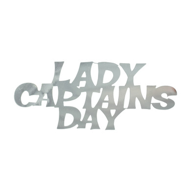 Lady Captains Day   Table Sprinkle Confetti - Silver