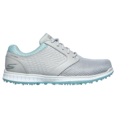Skechers Ladies Go Golf Elite 3 Grand Waterproof Golf Shoes- Grey and Mint
