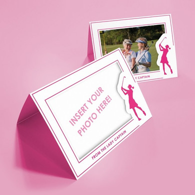 Pack of 10 'From The Lady Captain' Photo Frames  Cards