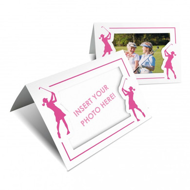 Golf Photo Frame Card Pack of 10