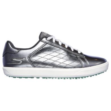 Skechers Ladies Go Golf Drive Shine Waterproof Golf Shoes- Pewter
