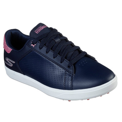 Skechers Ladies Go Golf Drive Shimmer Waterproof Golf Shoes- Navy and Pink