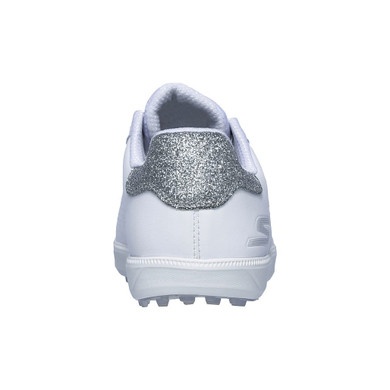 Skechers Ladies Go Golf Drive Shimmer Waterproof Golf Shoes- White and Silver
