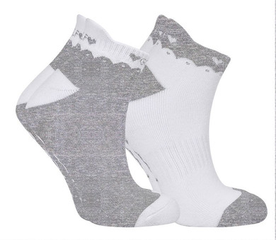 2 Pair Pack Of Grey Ladies Golf Socks